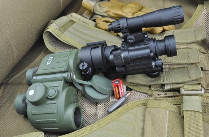 Clip on night vision scope