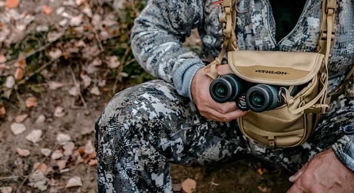 Taking out binoculars