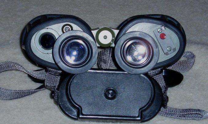Top view of infrared binoculars