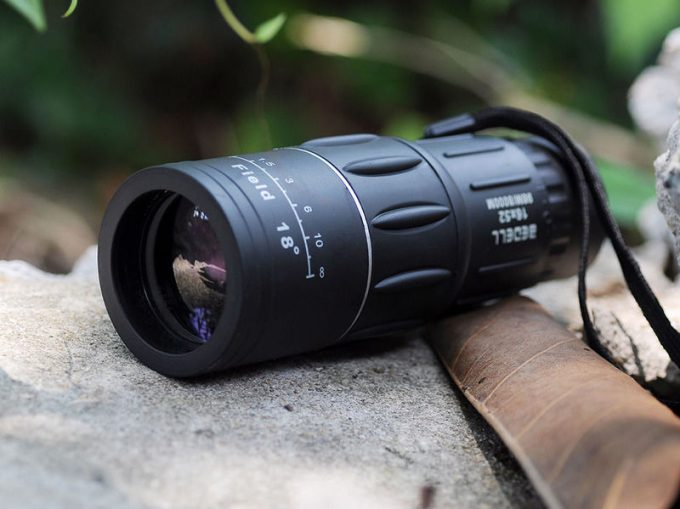 Viewing the lens of monocular
