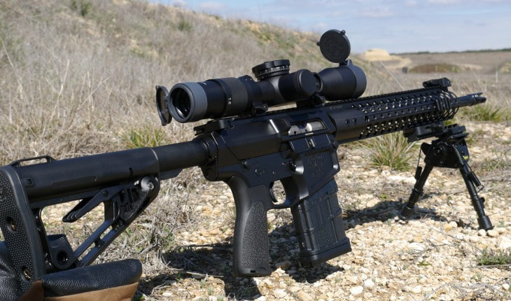308 rifle on stand