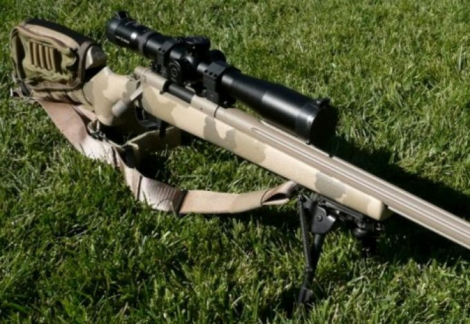 Camou 308 with scope