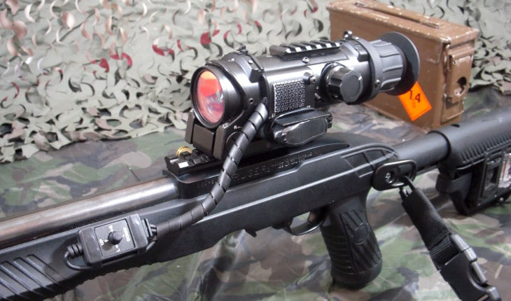 Digital NV-mounted rifle