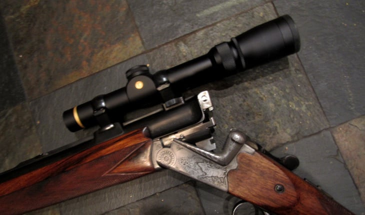 Ferlach shotgun with scope