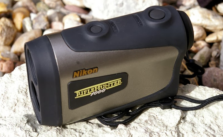 Laser rangefinder on rock