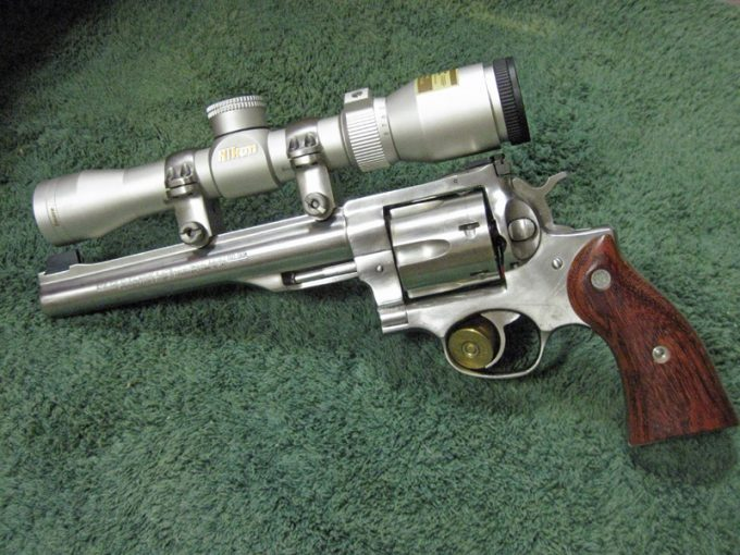 revolver with scope