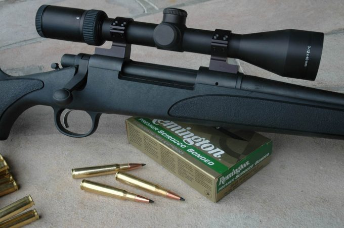 Remington rifle with scope