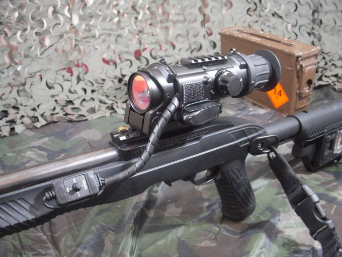 night vision scope on rifle