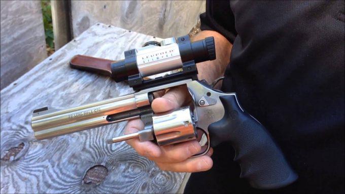 revolver with scope