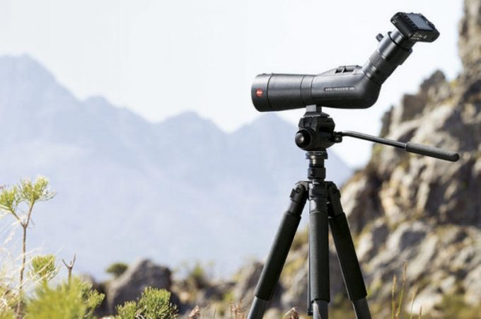 spotting scope nature view