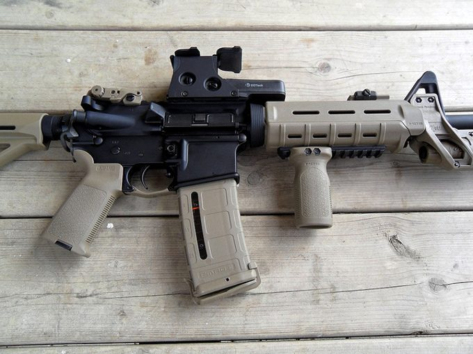 AR15 with eotech 512 mounted