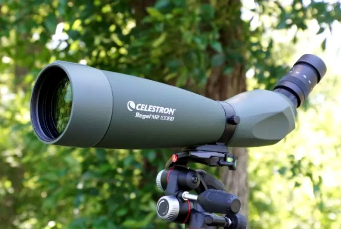 Angular spotting scope