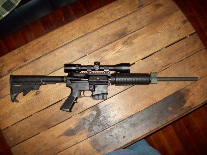 Bushnell banner rifle on table