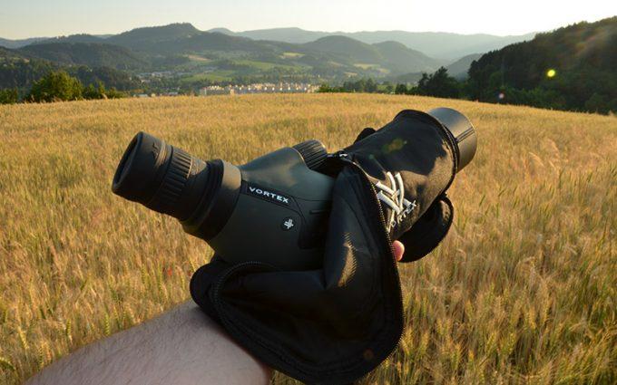 Diamondback spotting scope in sleeve