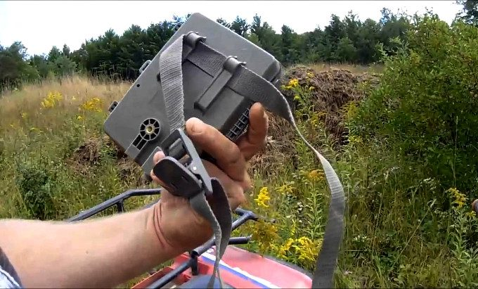 Holding a moultrie a5