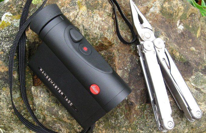 Leica Rangemaster 1600 on rock