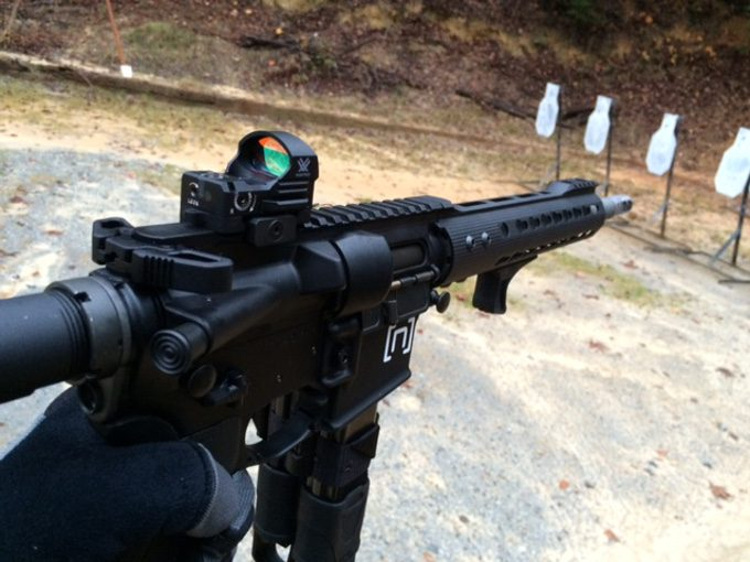 Shooting with vortex red dot