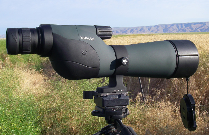 Spotting scope all set up