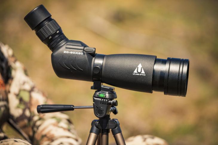 Spotting scope on tripod stand