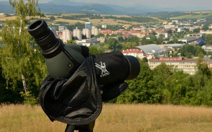Vortex spotting scope overlooking town