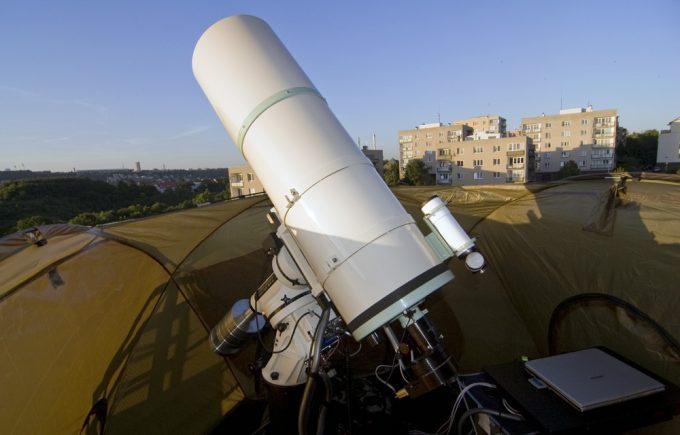 Cassegrain telescope in observatory
