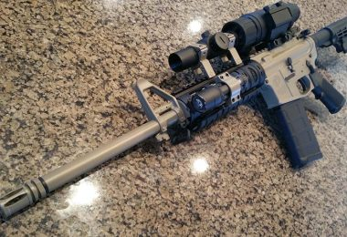 Cheap riflescope mounted on rifle