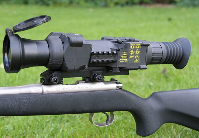 Pulsar thermal scope on rifle