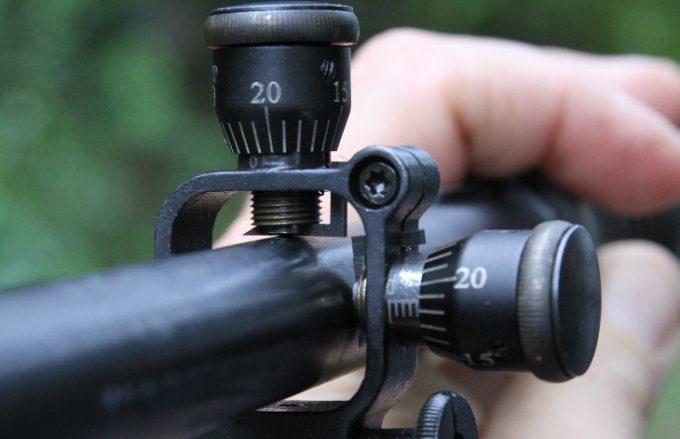 Sniper scope adjustment turrets