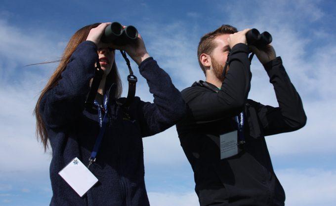 Students bird-watching