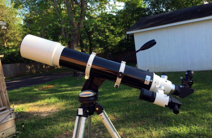 Telescope in backyard