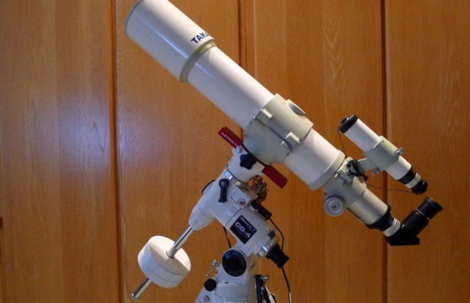 Telescope on mount