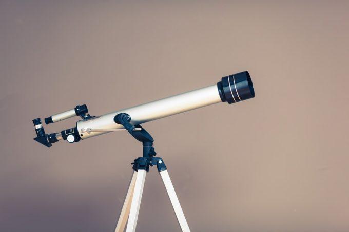 Telescope set up near wall