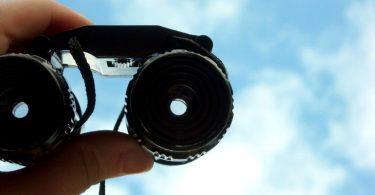 View of sky through binoculars