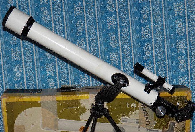Vintage refractor telescope