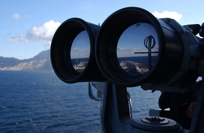 Binocular Aircraft Carrier Navy Military Ship