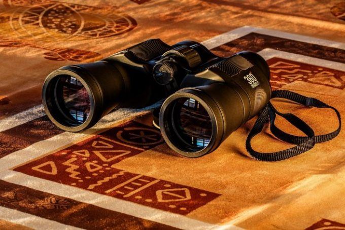 Binocular on carpet