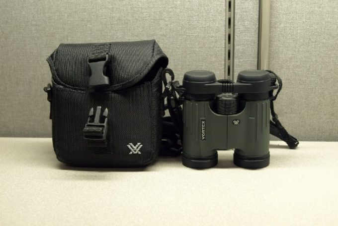Compact binoculars with case