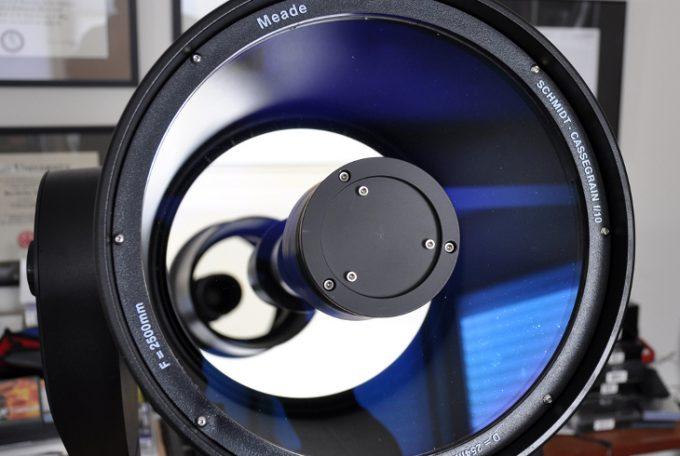 Focus knob of telescope