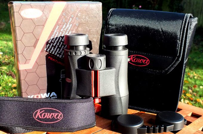 Kowa binoculars on the table