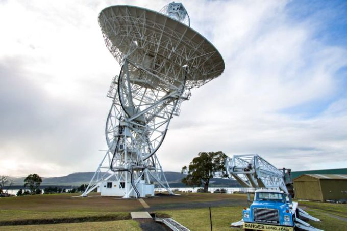 Radio telescope in Tasmania