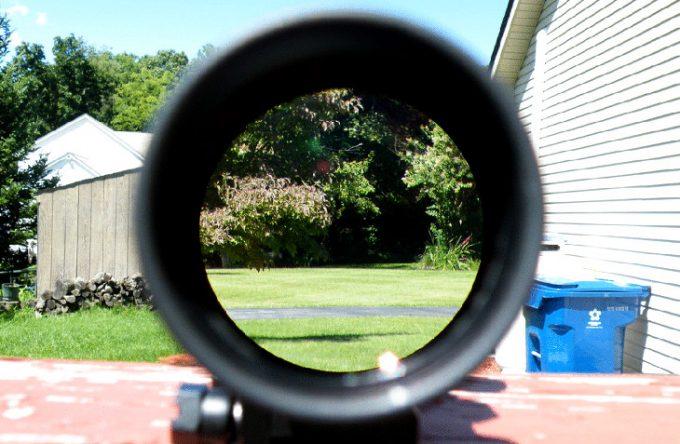 Red crosshair scope