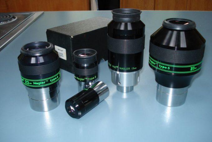 Set of Nagler eyepieces