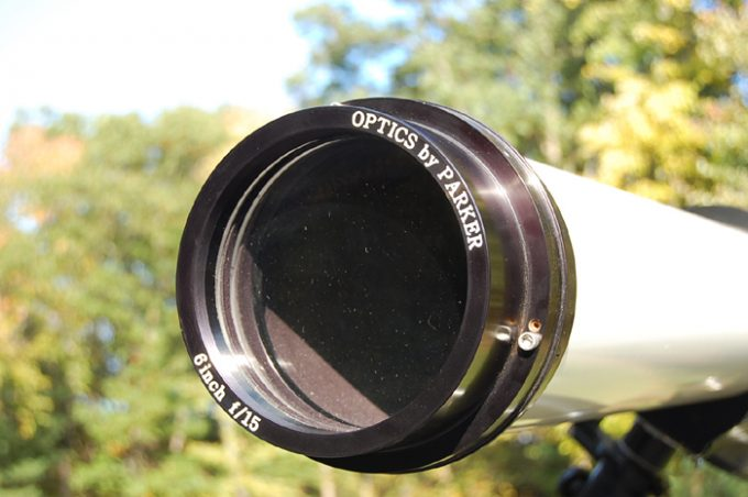 Telescope lens in view