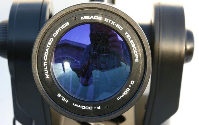 Telescope lens view