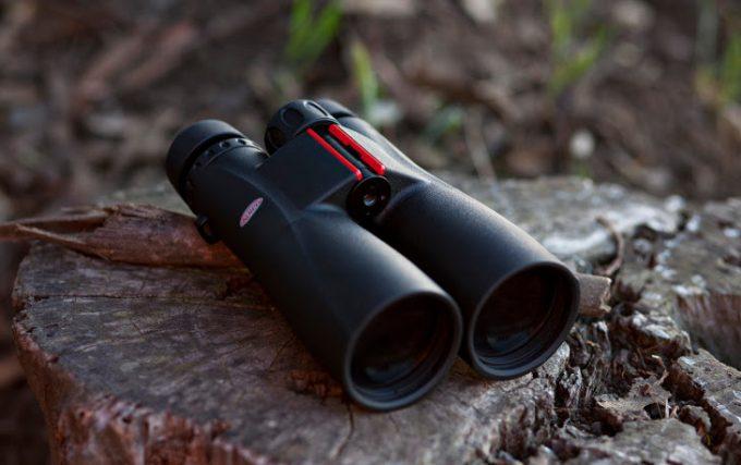 View of long-range binoculars