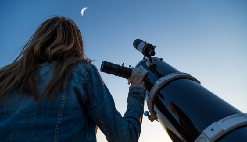 Viewing the moon on telescope