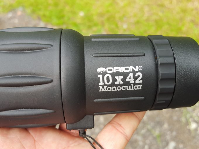 monocular in hand