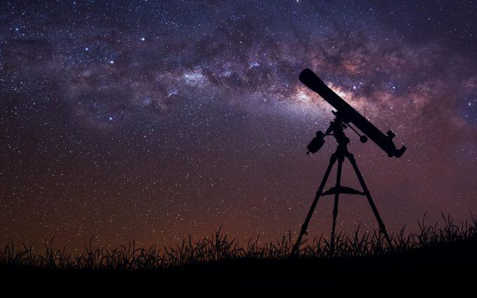 telescope stars infinite space