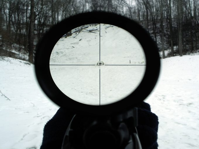a Reticle scope view