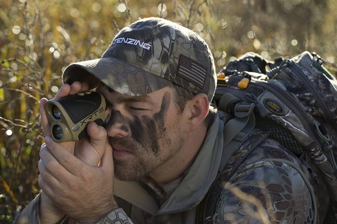 hunter with halo rangefinder
